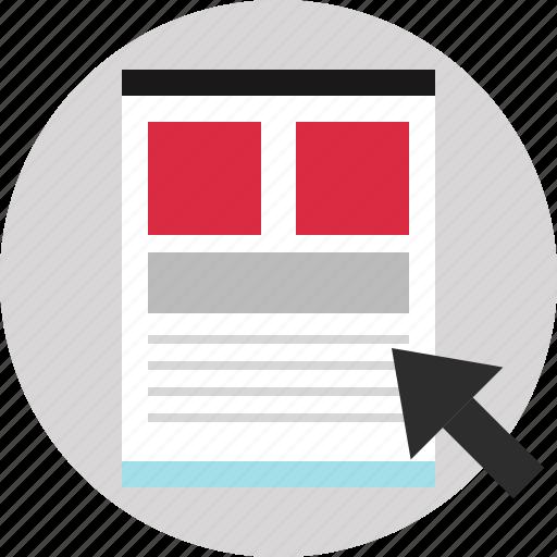 blog, layout, website, wireframe icon