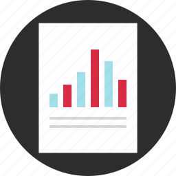 analyze, document, paper, results icon