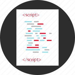 code, developing, program, script icon