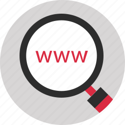 magnifier, search, website, www icon