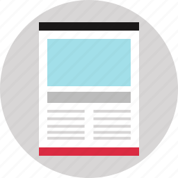 blog, layout, web, website icon