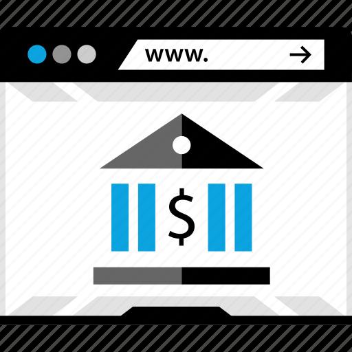 bank, online, transfer, www icon