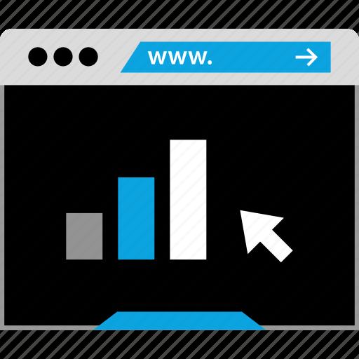 arrow, bars, data, seo graphic icon