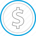 business, coin, currency, dollar icon