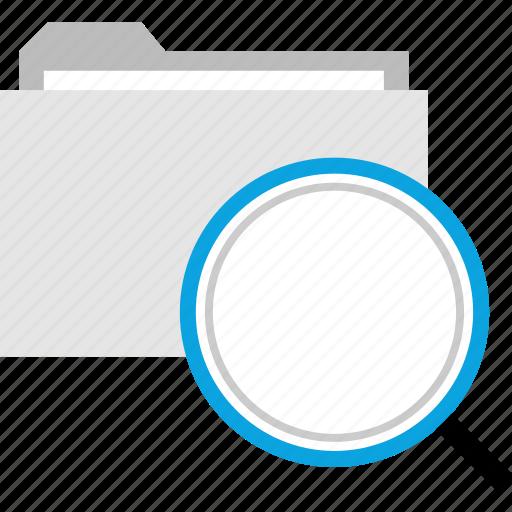 archive, file, folder, search icon