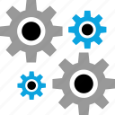 business, force, forcing, gear, settings, work, working icon