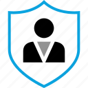 protect, shield, person, man icon