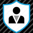 man, person, protect, shield
