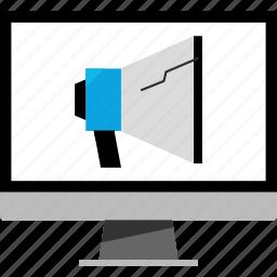 ad, advertisment, speaker, web icon