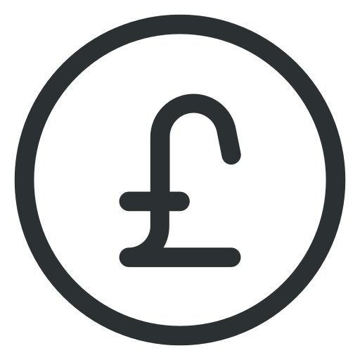 coin, currency, money, pound icon icon