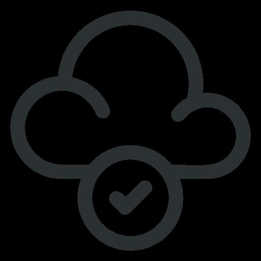 check, cloud, computing icon icon