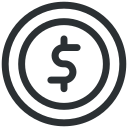 cent, coin, dollar, money icon icon