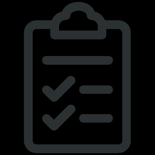 check list, clipboard, document, tick icon icon