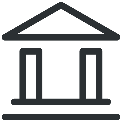 bank, banking, building, finance icon icon
