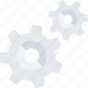 cogwheel, config, gear, mechanics, settings, wheel, work icon icon
