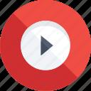 media play, multimedia, multimedia button, play button, video player icon icon