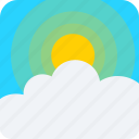 cloud, sun, weather icon icon