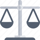 balance scale, court, justice, justice scale, law icon icon