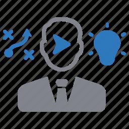 creative, idea, making, strategy, success icon