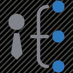 hierarchy, management, organization, structure, teamwork icon