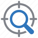 search, seo, target, vision icon