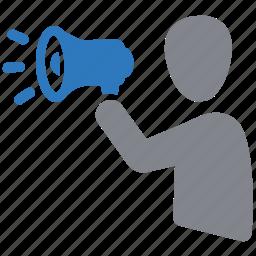 advertisement, announcement, megaphone, online advertising, promotion icon