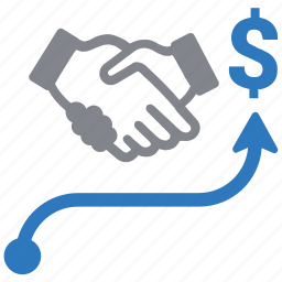 agreement, business, business growth, deal, financial growth, partnership icon