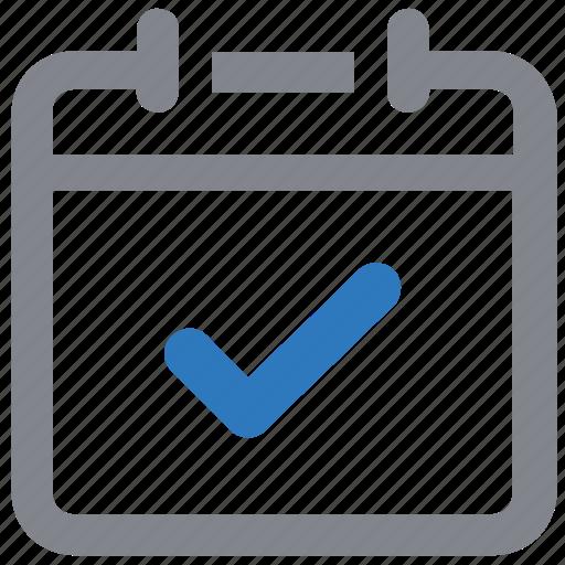 calendar, checkmark, deadline, schedule icon
