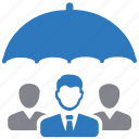 group, insurance, protection, security, team icon