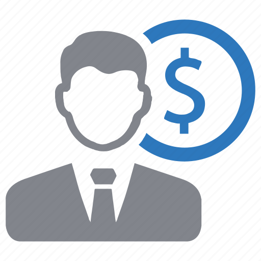 businessman, dollar, finance, investment, money icon