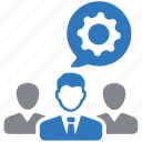 business, gear, group, leadership, team, teamwork icon