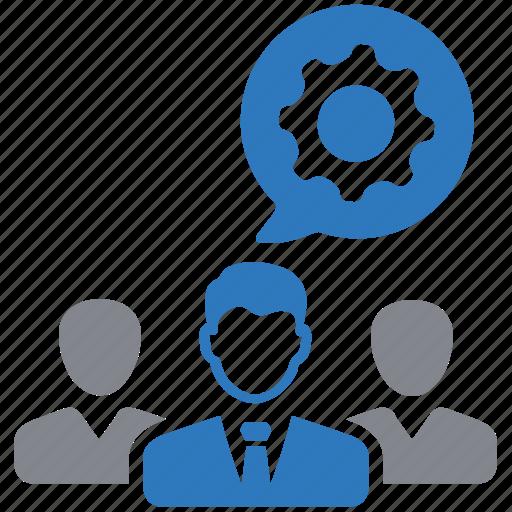 business, gear, group, leadership, team, teamwork icon