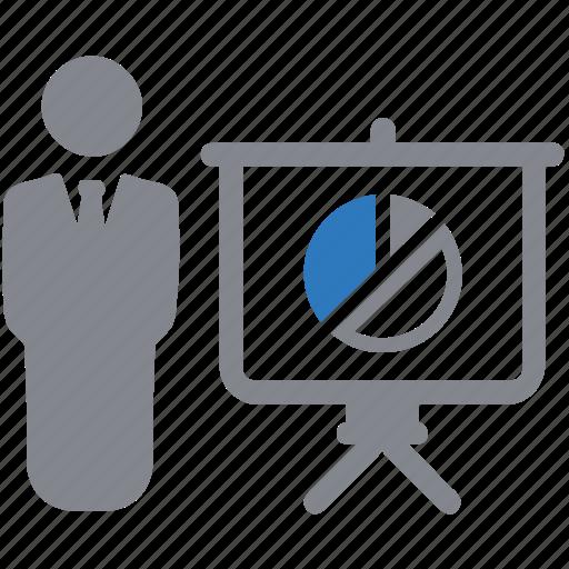 diagram, graph, pie chart, presentation, report icon
