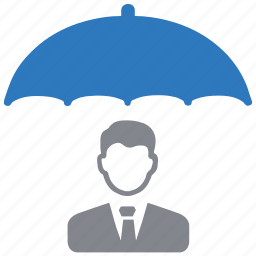 businessman, protection, security, shield icon