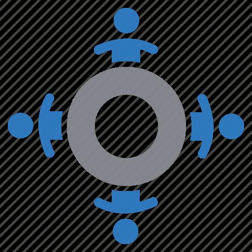 businessman, meeting, team, teamwork icon