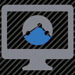 analytics, charts, monitoring, report, sales, statistics icon