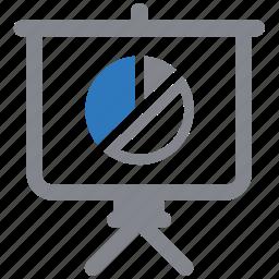 graph, market, pie chart, presentation, report, sales icon