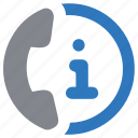 contact, help, info, information, support, telephone icon