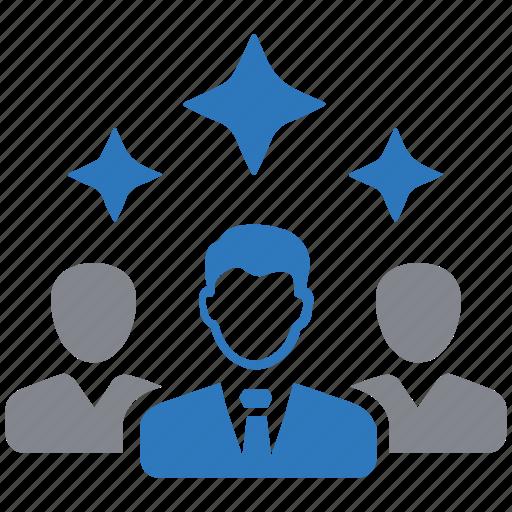 businessman, creative, leader, leadership, team icon