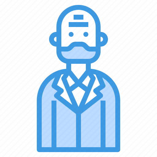 avatar, beard, business, glabrous, man icon