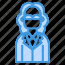 avatar, business, hair, long, man, profile