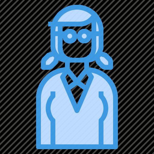avatar, braid, business, hair, long, woman icon