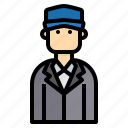 avatar, business, hat, man icon