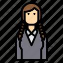 avatar, braid, business, hair, long, woman