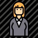 avatar, business, teacher, woman icon