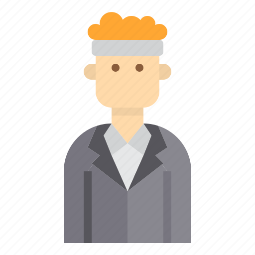 avatar, business, hairy, man icon