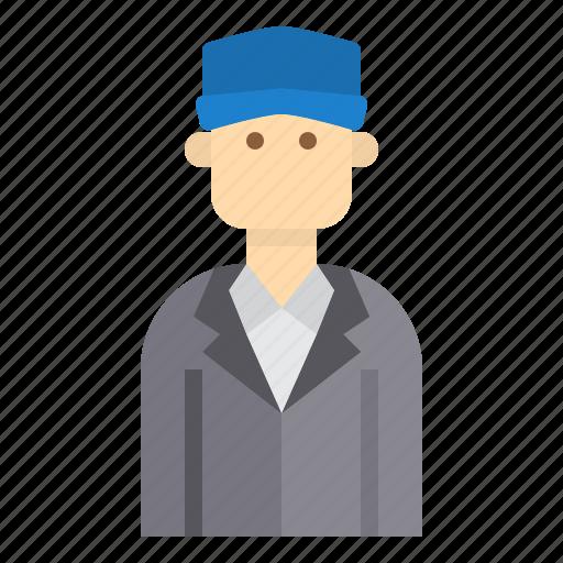avatar, business, hat, man icon