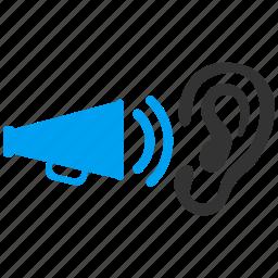 communication, information, megaphone, message, news, sound, speaker icon