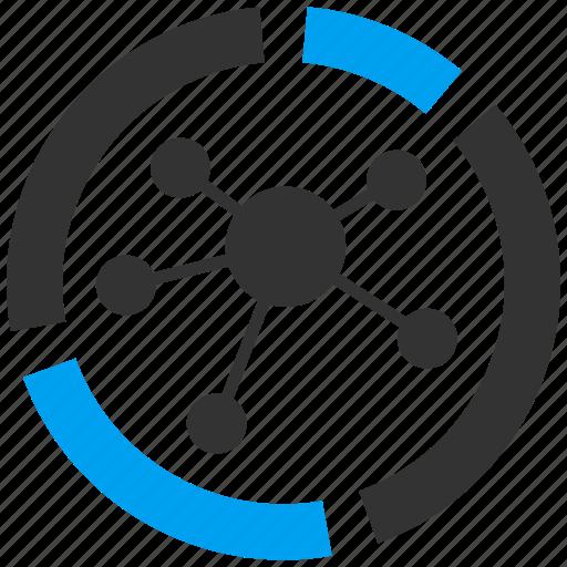analysis, analytics, chart, communication, graph, report, social icon