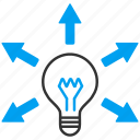 bulb, electric, electricity, energy, help, light, power icon